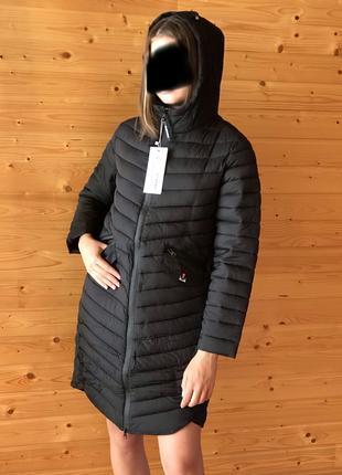 Легкое стильное стёганное пальто