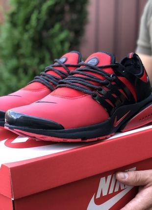 Стильные и модные кроссовки Nike Air Presto (красные с чёрным)