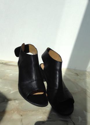 Стильные мюли кожаные / ботинки / мюлі шкіра / лоферы