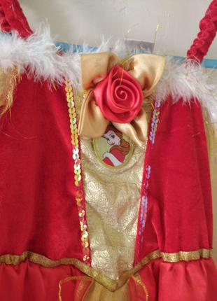 Платье Белль  на 5-6 лет Дисней Disney