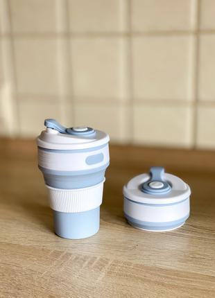Стакан/кружка/термос складной силиконовый ЭКО 350мл eco cup