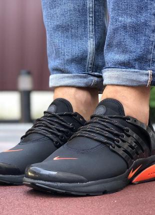 Nike Air Presto (чёрные с оранжевым)
