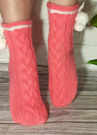 Вязаные носки. Шерстяные носки. Красивые носки для подарка