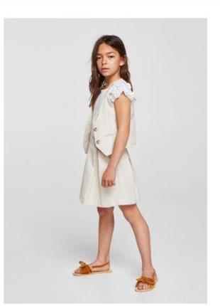 Школьный комплект юбка+жилетка