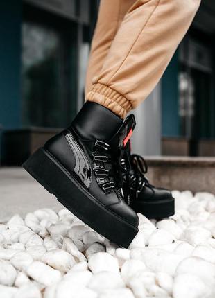 "Puma x fenty by rihanna sneaker boot ""black"" 🆕 женские кроссов..."