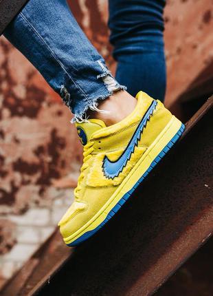 Nike sb dunk low x grateful dead yellow\blu 🆕 мужские кроссовк...
