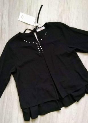 Блуза кофточка черного цвета