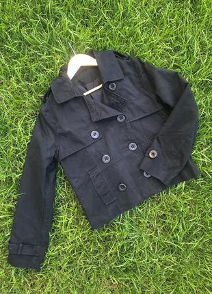 Укороченный тренч пиджак плащ