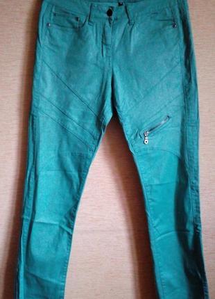 Лёгкие бирюзовые брюки, штаны 50/52 размера