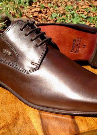 Мужские кожанные бизнес туфли BUGATTI 42 р MPN T3117-1-610 в ориг