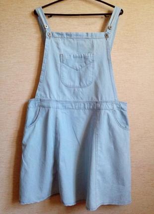 Женский летний комбинезон с юбкой из тонкого коттона