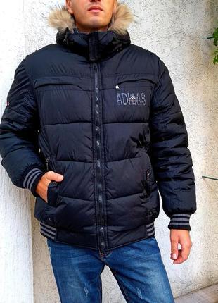 Двухсторонняя мужская куртка на зиму adidas