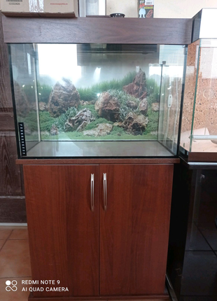 Новый комплект: аквариум с крышкой и тумбой на 115л.Доставка
