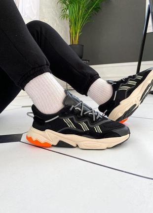 "Кроссовки adidas ozweego ""black/orange"""