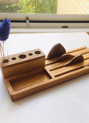 Органайзер канцелярский офисный деревянный