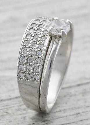 Кольцо серебро 925 пробы пассаж 1267