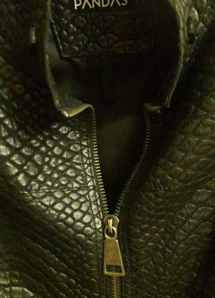 Мужская куртка из крокодиловой кожи