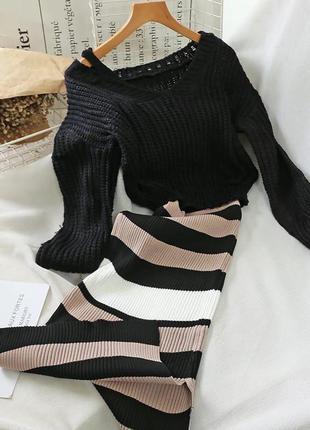 Стильные двойки (в комплекте платье-дудочка и укорочённый джем...