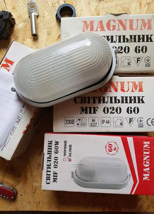 Светильник без решётки MIF 020 60W MAGNUM E27 IP54
