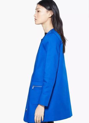 Синее пальто mango на молнии