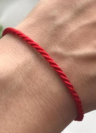 Красная нить серебро 925 пробы браслет от сглаза 4036