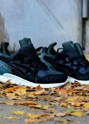 Кроссовки asics gel lyte mt black green