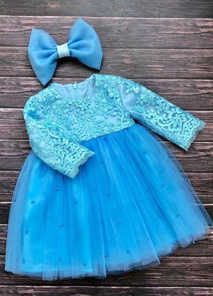 Нарядное кружевное платье для девочки