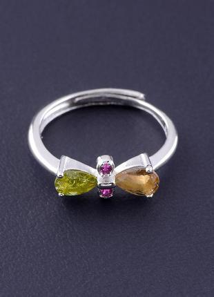 Кольцо турмалин 1,72 г.