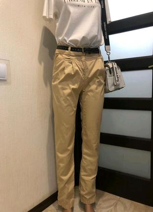Стильные брэндовые брюки штаны с высокой посадкой