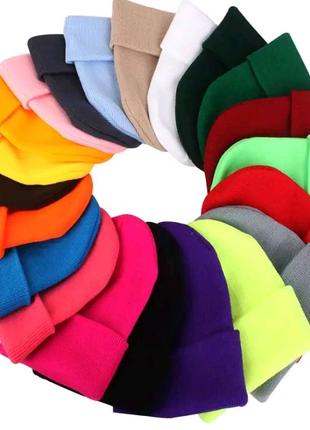 Зимняя вязаная шапка шарф балаклава унисекс мужская женская бафф
