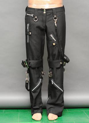 Lip.servis. черные брюки в стиле стимпанк. полукотон стрейч