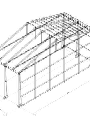 Быстровозводимое здание из легких металлических конструкций