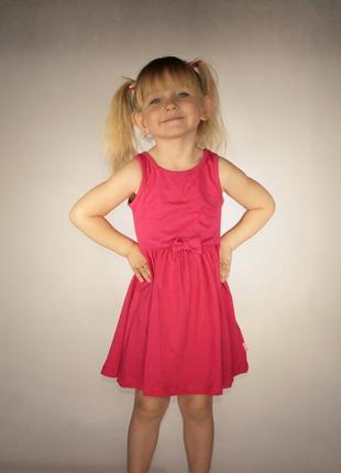 Красное платье для девочки lc waikiki / лс вайкики