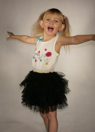 Черная юбка для девочки lc waikiki / лс вайкики