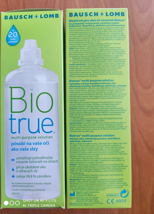 Два флакона розчину для лінз Biotrue 360 ml.