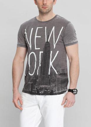 Мужская футболка lc waikiki/лс вайкики футболка серого цвета с...