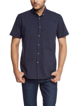 Мужская рубашка lc waikiki с коротким рукавом синего цвета фир...