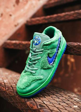 Кроссовки nike sb dunk low x grateful dead green blu