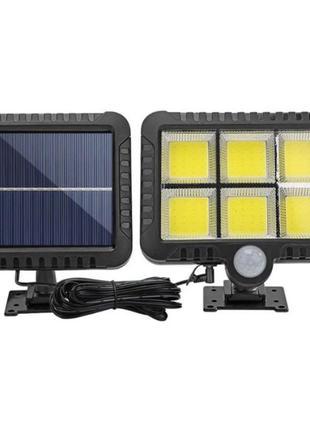 Уличный светильник с датчиком движения и солнечной панелью