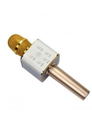 Беспроводной микрофон караоке q7 (gold, black)