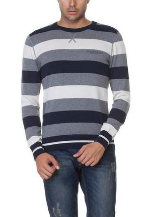 Мужской свитер lc waikiki / лс вайкики в серо-бело-темно-серым...