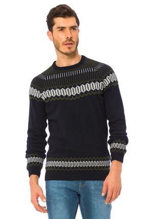 Мужской свитер черный lc waikiki / лс вайкики в бело-зеленый о...