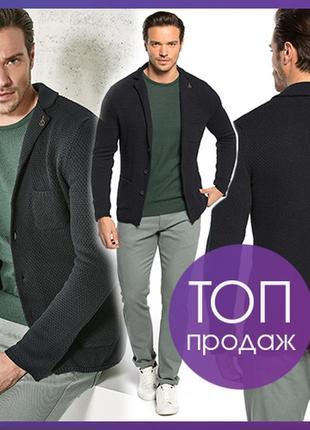 Синий мужской пиджак lc waikiki / лс вайкики на пуговицах