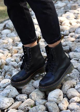 Женские кожаные ботинки dr. martens 1460 black черного цвета 😍...