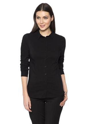 Черная женская рубашка lc waikiki / лс вайкики на черных пугов...