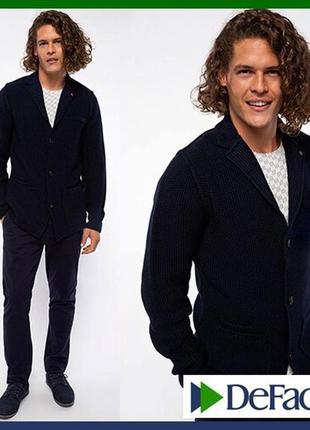 Вязаный мужской пиджак de facto / де факто шерстяной, на пугов...