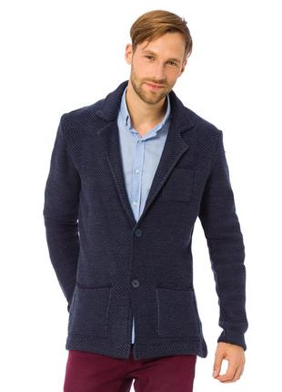 Синий мужской пиджак lc waikiki / лс вайкики с латками и карма...