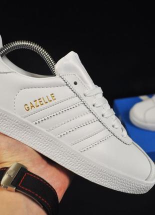 Кроссовки Adidas Gazelle,белые Адидас Газель, кроссовки, кеды ...