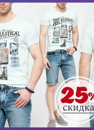 Мужская футболка мятная lc waikiki / лс вайкикиь just nautical...