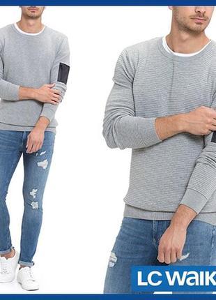 Cерый мужской свитер lc waikiki / лс вайкики с карманом на мол...
